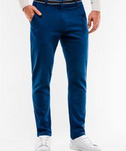 Chino sodriai mėlynos laisvalaikio kelnės vyrams internetu pigiau P156 14431