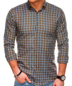Rudi languoti marškiniai vyrams internetu pigiau K520 14442