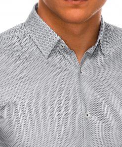 Stilingi marškiniai vyrams ilgomis rankovėmis internetu pigiau K516 14446-4