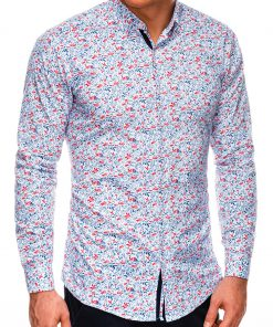 Stilingi marginti vyriški marškiniai ilgomis rankovėmis internetu pigiau K525 14448