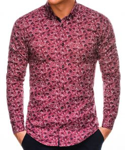 Stilingi marginti vyriški marškiniai ilgomis rankovėmis internetu pigiau K525 14449