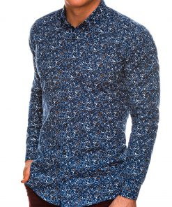 Stilingi marginti vyriški marškiniai ilgomis rankovėmis internetu pigiau K525 14450