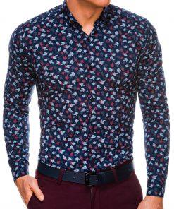 Madingi marginti vyriški marškiniai ilgomis rankovėmis internetu pigiau K518 14451