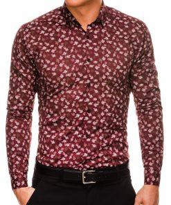 Stilingi marginti vyriški marškiniai ilgomis rankovėmis internetu pigiau K518 14452