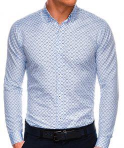 Stilingi balti vyriški marškiniai ilgomis rankovėmis internetu pigiau K526 14454