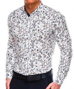 Stilingi marginti vyriški marškiniai ilgomis rankovėmis internetu pigiau K531 14455