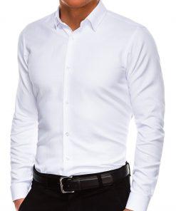 Stilingi balti marškiniai vyrams internetu pigiau K527 14460