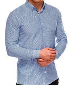 Stilingi marškiniai vyrams ilgomis rankovėmis internetu pigiau K535 14464-6