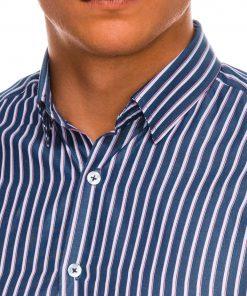 Dryžuoti vyriški marškiniai ilgomis rankovėmis internetu pigiau K521 14468-3
