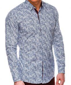 Balti marginti marškiniai vyrams ilgomis rankovėmis internetu pigiau K530 14469
