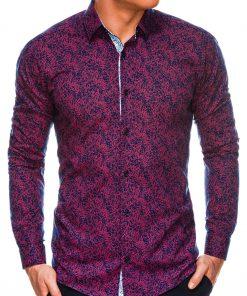 Stilingi marginti vyriški marškiniai ilgomis rankovėmis internetu pigiau K530 14470