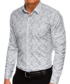 Stilingi gėlėti vyriški marškiniai ilgomis rankovėmis internetu pigiau K532 14471