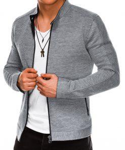 Pilkas vyriškas džemperisužsegamas užtrauktuku internetu pigiau B1029 14472-6