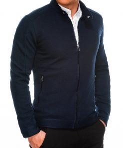 Tamsiai mėlynas vyriškas džemperis užsegamas užtrauktuku internetu pigiau B1029 14473-3