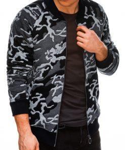 Pilkas kamufliažinis vyriškas džemperis Bomber internetu pigiau B1028 14475-2