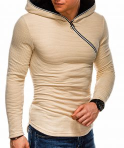 Rusvas vyriškas džemperis su gobtuvu internetu pigiau B1020 14477-4