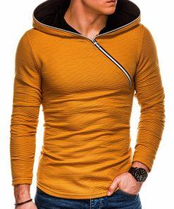 Šviesiai rudas vyriškas džemperis su gobtuvu internetu pigiau B1020 14480-3