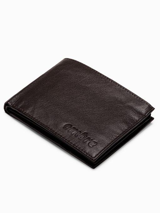 Ruda odinė vyriška piniginė internetu pigiau A123 14492