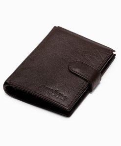 Ruda odinė vyriška piniginė internetu pigiau A155 14496-1