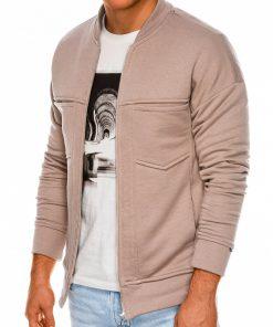 Rusvas vyriškas džemperis užsegamas užtrauktuku internetu pigiau B1029 14501-1