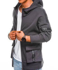 Vyriškas džemperis su gobtuvu internetu pigiau B1049 14503-1