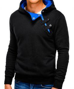 Juodos-mėlynos spalvos vyriškas džemperis vyrams internetu pigiauPaco 168-3