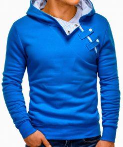 Mėlynos-baltos spalvos vyriškas džemperis vyrams internetu pigiau Paco 174-4