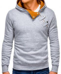 Pilkai-rudas vyriškas džemperis vyrams internetu pigiau Paco 176-4