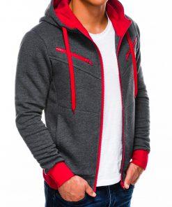Tamsiai pilkas džemperis vyrams internetu pigiau Amigo B522 218