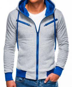 Pilkas vyriškas džemperis su gobtuvu internetu pigiau Amigo B522 223
