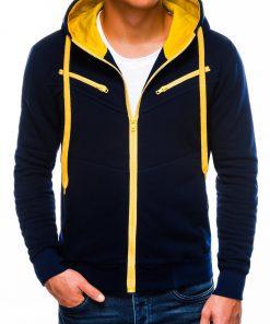 Tamsiai mėlynas vyriškas džemperis su gobtuvu internetu pigiau Amigo B522 225