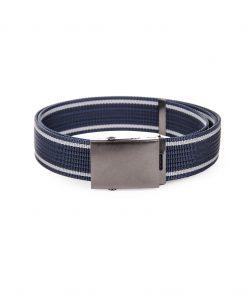 Tamsiai mėlynas medžiaginis vyriškas diržas internetu pigiau A028 3171-1