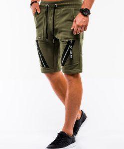 Chaki spalvos vyriški šortai internetu pigiau W052 9069