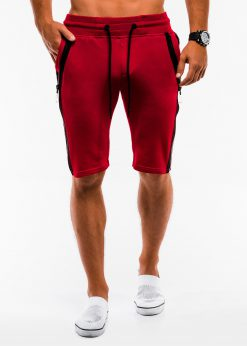 Raudoni sportiniai sortai vyrams internetu pigiau W054 9123-1