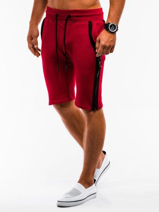 Raudoni sportiniai šortai vyrams internetu pigiau W054 9123