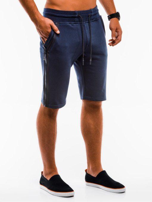 Tamsiai mėlynosspalvos sportiniai šortai vyrams internetu pigiau W054 9124
