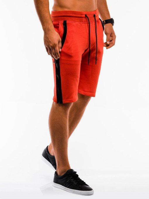 Oranžinės spalvos sportiniai šortai vyrams internetu pigiau W054 9126
