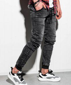 Juodi jogger vyriški džinsai internetu pigiau P551 14354-1