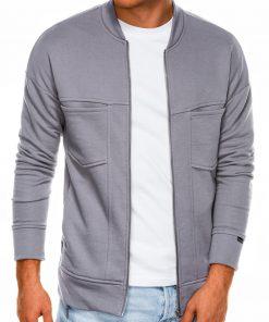 Pilkas vyriškas džemperis užsegamas užtrauktuku internetu pigiau B1022 14500-1
