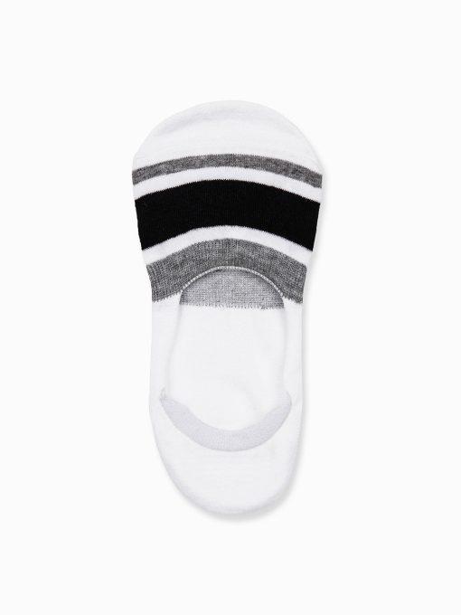 Nematomos trumpos baltos kojinės vyrams U79 14549-1