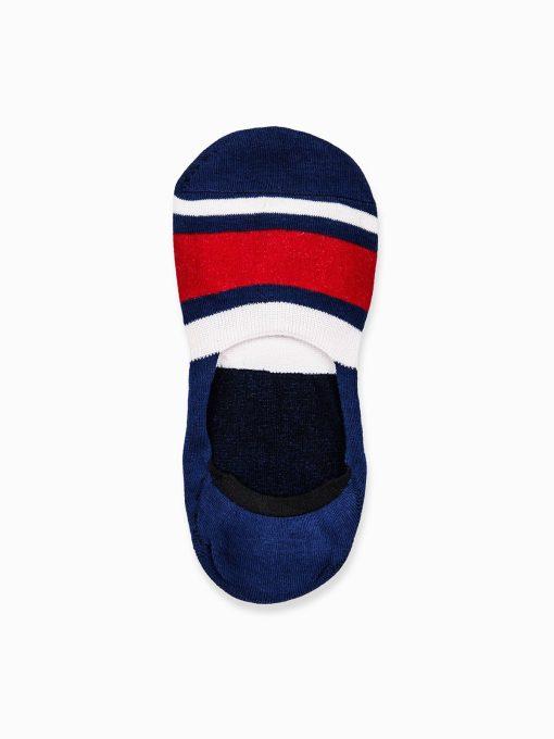 Nematomos trumpos tamsiai mėlynos kojinės vyrams internetu pigiau U79 14551