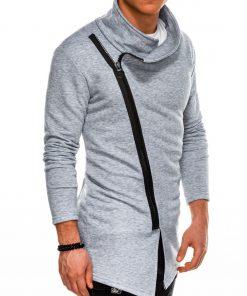 Stilingas pilkas vyriškas džemperis internetu pigiau B1051 14589-1