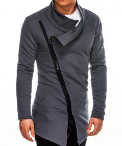 Stilingas tamsiai pilkas vyriškas džemperis internetu pigiau B1051 14590-1