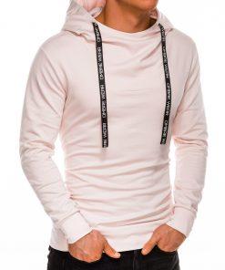 Silingas šviesiai rožinis vyriškas džemperis su gobtuvu internetu pigiau B1052 14597-1