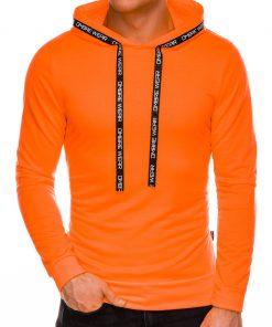 Ryškus oranžinis vyriškas džemperis su gobtuvu internetu pigiau B1053 14598-1