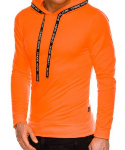 Oranzinis vyriskas dzemperis su kapisonu internetu pigiau B1053 14598-2