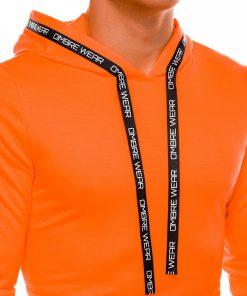 Ryskus oranzinis vyriskas dzemperis su gobtuvu internetu pigiau B1053 14598-3