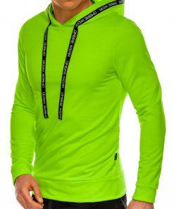 Ryškus žalias vyriškas džemperis su gobtuvu internetu pigiau B1053 14599-1