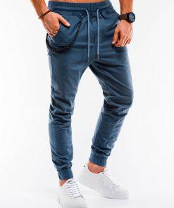 Mėlynos jogger vyriškos kelnės internetu pigiau P908 14658-1