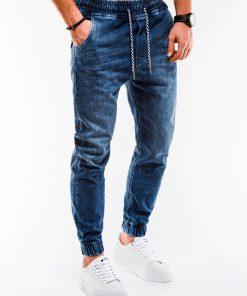 Tamsiai mėlyni jogger vyriški džinsai internetu pigiau P907 14659-4